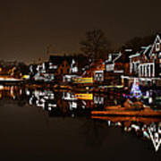 Boathouse Row Lights Poster