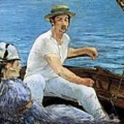 Boating Poster by Edouard Manet