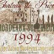 Bordeaux Blanc Label 2 Poster