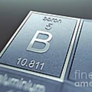 Boron Chemical Element Poster