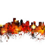 Boston Massachusetts Skyline Poster by Michael Tompsett