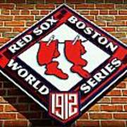 Boston Red Sox 1912 World Champions Poster