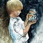 Boy Plays Poster