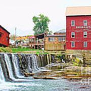 Bridgeton Mill And Covered Bridge Poster
