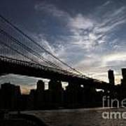 Brooklyn Bridge Sunset Poster