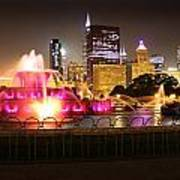 Buckingham Fountain Chicago Poster by Ed Pettitt