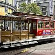 Cable Car On Turntable San Francisco Poster