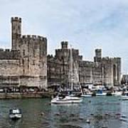 Caernarfon Castle Panorama Poster