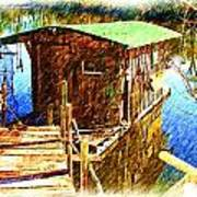 Cajun House Boat Poster