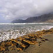 Caleta De Famara Beach On Lanzarote Poster
