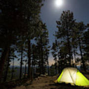 Camping On The Rim Poster