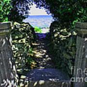 Cana Island Walkway Wi Poster