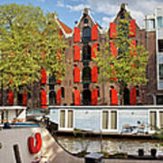 Canal In The City Of Amsterdam Poster