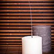 Candles And Bamboo Poster