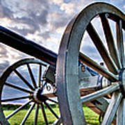 Cannon Over Gettysburg Poster