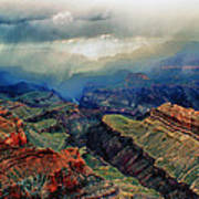 Canyon Clouds Poster