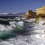 Cape Kiwanda With Breaking Waves Poster