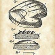 Catcher's Glove Patent 1891 - Vintage Poster