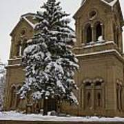 Cathedral Basilica Of St Francis In Snow Poster