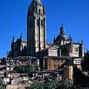 Cathedral In Salamanca Poster