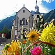 Chamonix Church Poster