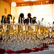 Champagne Glasses At The Party Poster