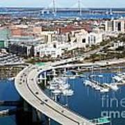 Charleston Waterfront And Marina South Carolina Poster