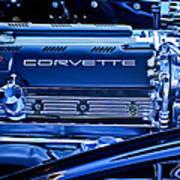 Chevrolet Corvette Engine Poster