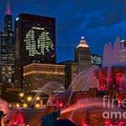 Chicago Blackhawks Skyline Poster