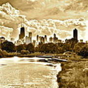 Chicago In Sepia Poster