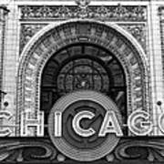 Chicago Theater Marquee Poster