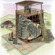 Chinese Astronomical Clocktower Built Poster