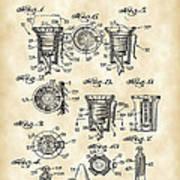 Christmas Bulb Socket Patent 1936 - Vintage Poster