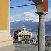 Church Madonna Del Sasso Poster