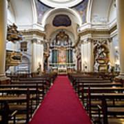 Church Of Santa Barbara Interior In Madrid Poster