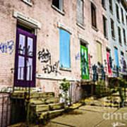 Cincinnati Glencoe-auburn Row Houses Picture Poster