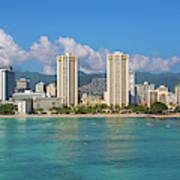 City At The Waterfront, Waikiki Poster