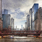 City - Chicago Il - Looking Toward The Future Poster