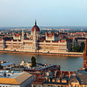 City Of Budapest Cityscape Poster