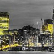 City Of London At Night Poster