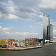 City Of Rotterdam In Netherlands Poster