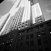 Close In Shot Of The Empire State Building New York City Poster