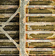 Close-up Of A Weathered Wall, Los Poster