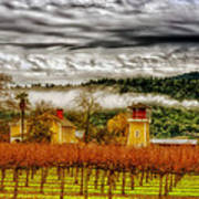 Clouds Over Napa Valley Poster
