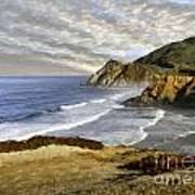 Coastal Beauty Impasto Poster