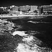 Coastal Path Past Salou Waterfront Properties On The Costa Dorada Catalonia Spain Poster