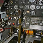 Cockpit Of A P-40e Warhawk Poster