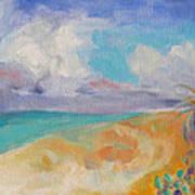 Collapsed Sand Castle Poster by Susan Hanlon