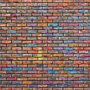 Colorful Brick Wall Texture Poster