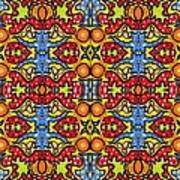 Colorful Folklore Pattern Poster